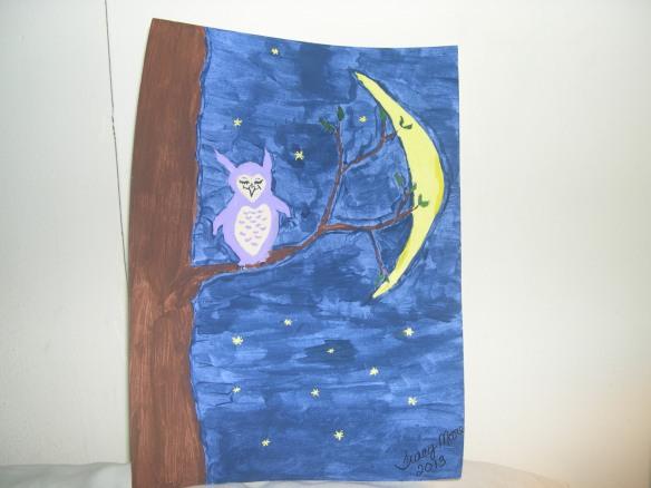 Owl & Moon 001