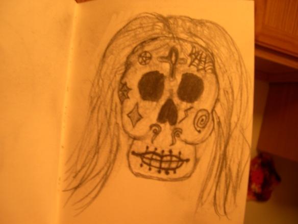 Owl & Sugar Skull 2 005