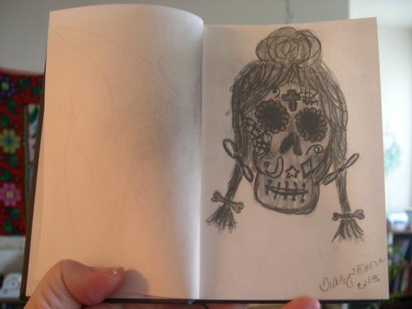 Sugar skull & Jessa 001